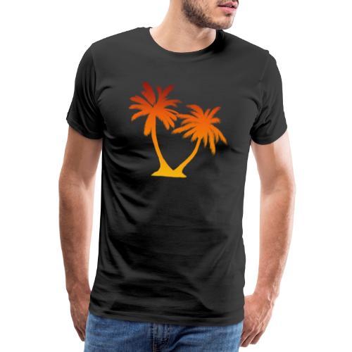 Palm Boom Zonsondergang - Mannen Premium T-shirt
