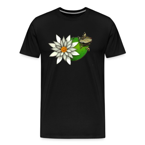 frog on a lilly pad - Men's Premium T-Shirt