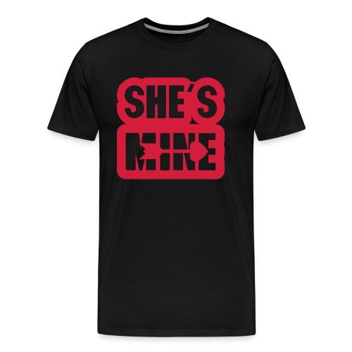 she s mine fleche coeur saint valentin - T-shirt Premium Homme