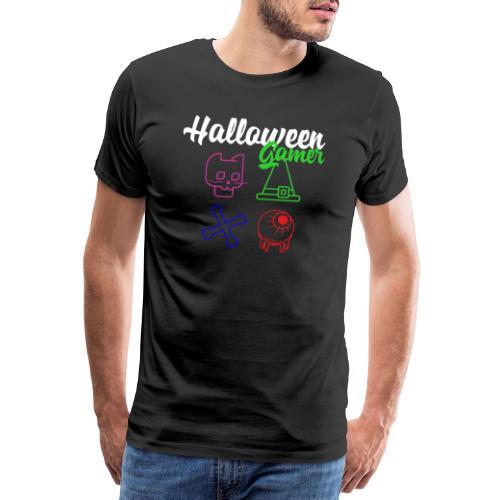 Halloween Gamer Zocken Gaming Controller Shirt - Männer Premium T-Shirt