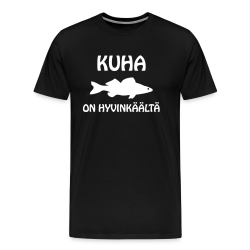 KUHA ON HYVINKÄÄLTÄ - Miesten premium t-paita