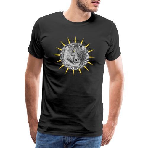 EULE OWL Yin Yang - Männer Premium T-Shirt
