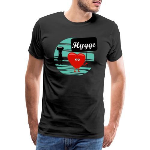 I love you hygge - Camiseta premium hombre