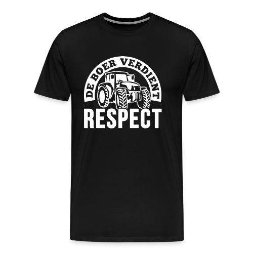 LOGO WIT DeBoerVerdientRe - Mannen Premium T-shirt