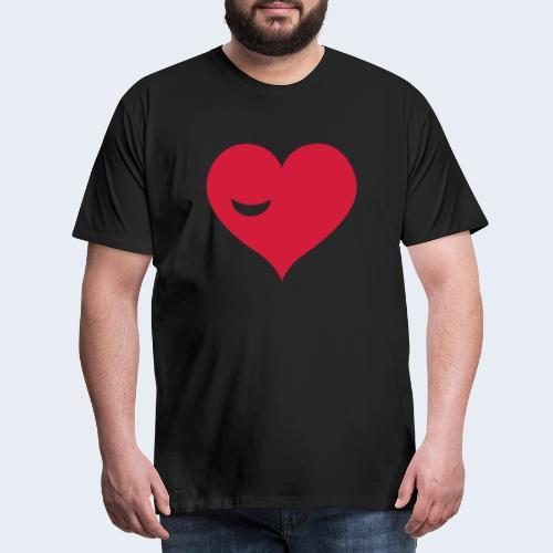 Winky Heart - Mannen Premium T-shirt