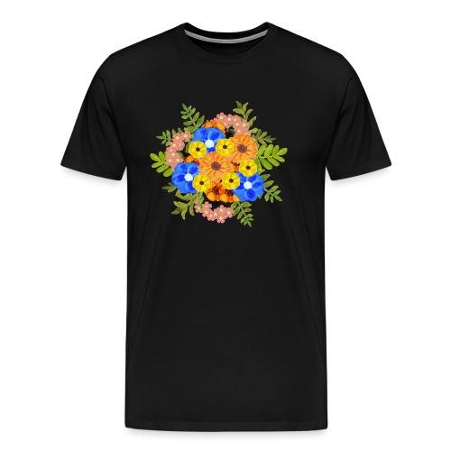 Blue Flower Arragement - Men's Premium T-Shirt