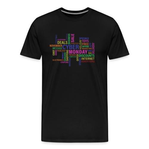 cyber monday text print - Herre premium T-shirt