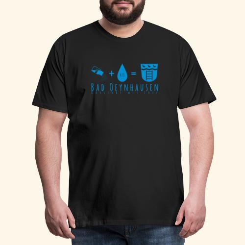 Salz Plus Wasser = B.O. - Männer Premium T-Shirt