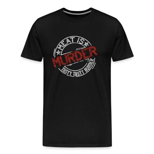 Meat is murder hell - Männer Premium T-Shirt