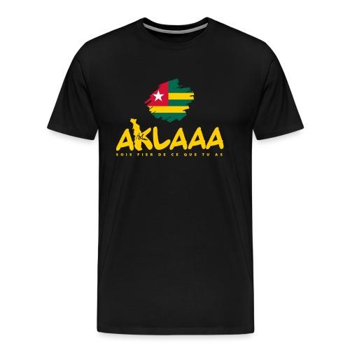 Aklaaa - Togo - Jaune - T-shirt Premium Homme