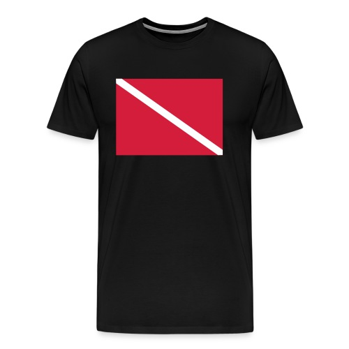 Diver Flag - Men's Premium T-Shirt