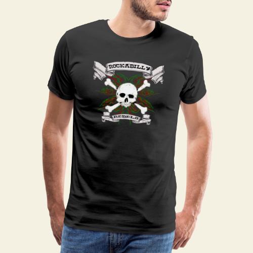 skull back - Herre premium T-shirt
