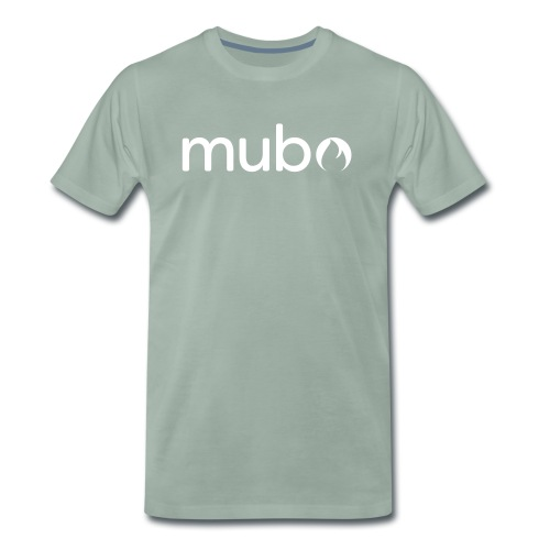mubo logo Word White - Men's Premium T-Shirt