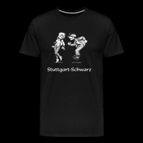 Stuttgart-Schwarz-Logo - Männer Premium T-Shirt