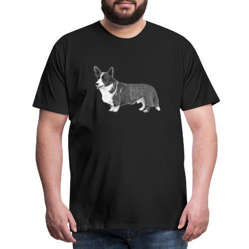 welsh Corgi Cardigan - Herre premium T-shirt