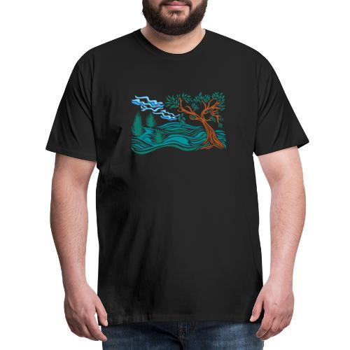 albero in collina - Maglietta Premium da uomo