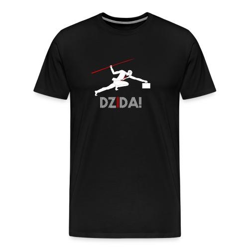 Dzida_wzor_bialy - Koszulka męska Premium