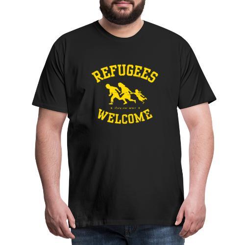 Refugees Welcome - Open your heart - Männer Premium T-Shirt
