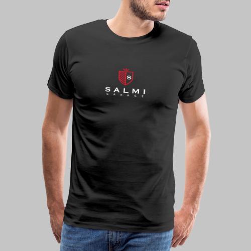 Salmi Garage Logo (Valkoinen Pysty) - Miesten premium t-paita