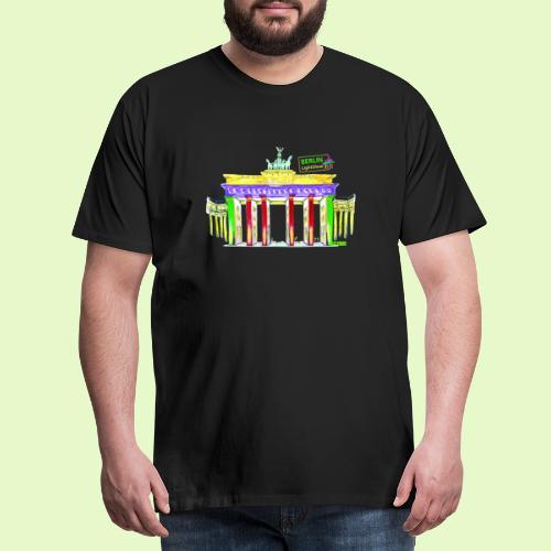 Berlin/Brandenburger Tor/PopArt/BerlinLightShow - Männer Premium T-Shirt