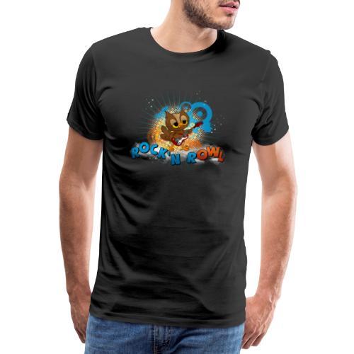 Eule mit Gitarre - rock'n rOWL - Männer Premium T-Shirt