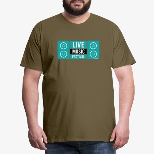 Amo la música - Camiseta premium hombre