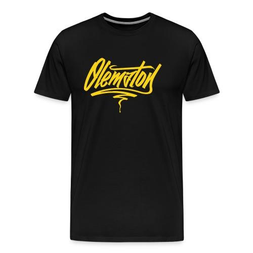 Olematon (musta) - Miesten premium t-paita