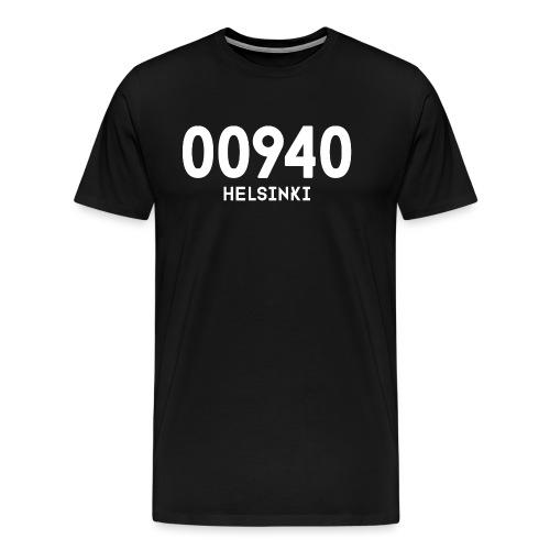 00940 HELSINKI - Miesten premium t-paita
