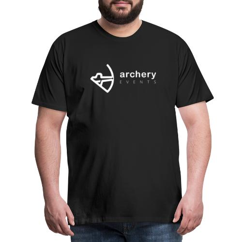 Archery Events Logo white - Männer Premium T-Shirt
