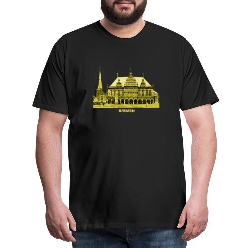 Bremen Rathaus Roland Hansestadt Deutschland - Männer Premium T-Shirt