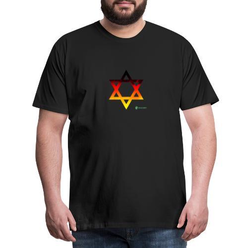 deutschland davidstern transparent - Männer Premium T-Shirt
