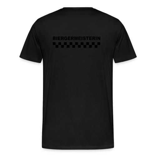 schriftzug weiblich mit karos - Männer Premium T-Shirt