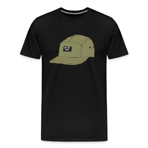 5 panel Get in line hoodie - Men's Premium T-Shirt