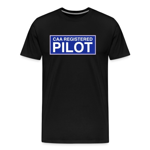CAA Registered Pilot - Men's Premium T-Shirt