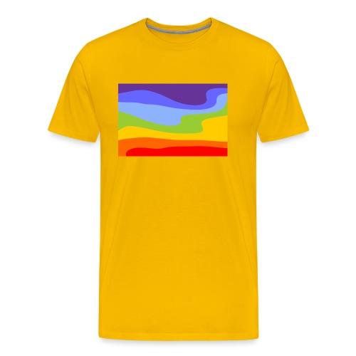 Hintergrund Regenbogen Fluss - Männer Premium T-Shirt
