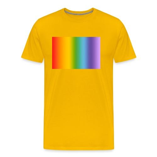 Hintergrund Regenbogen soft - Männer Premium T-Shirt