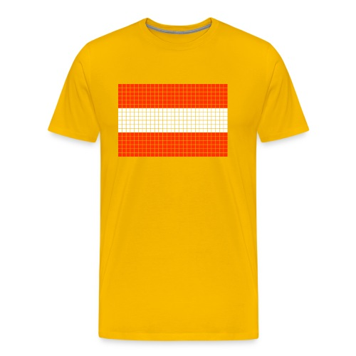 austrian flag - Maglietta Premium da uomo