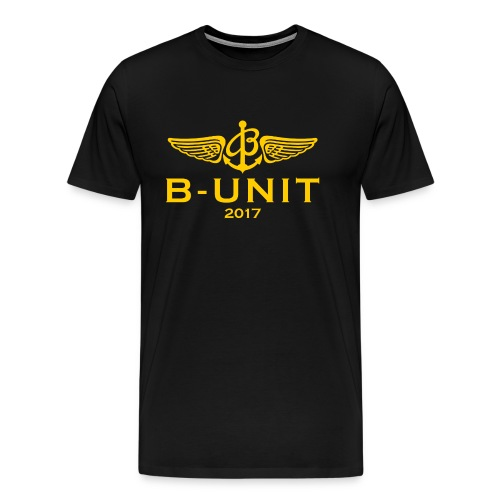BUnit logo Gul - Premium-T-shirt herr