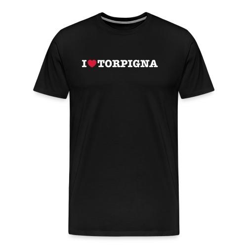I Love TorPigna - Maglietta Premium da uomo