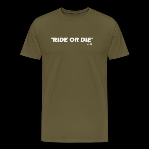 Ride or die (blanc) - T-shirt Premium Homme