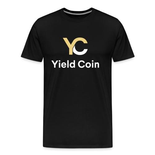 Gold and White Combination - Men's Premium T-Shirt