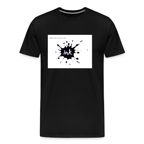 Ink Logo and website - Men's Premium T-Shirt