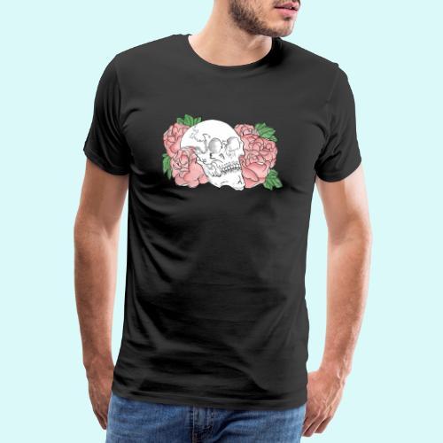 skull et fleurs - T-shirt Premium Homme