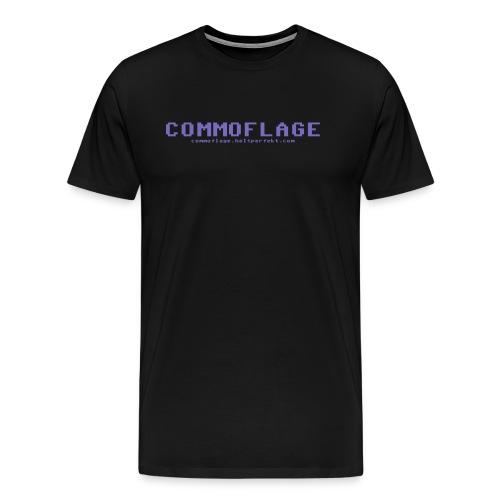 Commoflage t shirt logo blue png - Premium-T-shirt herr