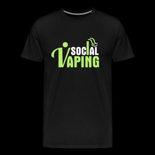 SOCIAL VAPING LOGO - Men's Premium T-Shirt