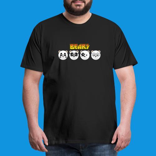 Kiss Bears.png - Men's Premium T-Shirt