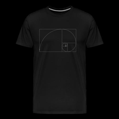 Golden Ratio - Herre premium T-shirt
