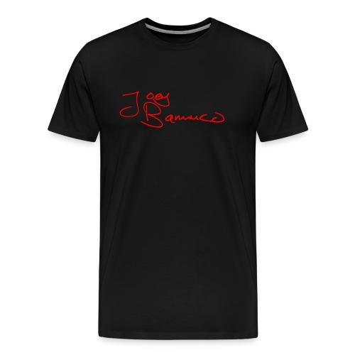 JoeyBamuco Red Signature - Miesten premium t-paita