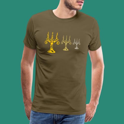 edles Kerzenlicht - Männer Premium T-Shirt