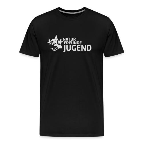 LogoNFJ_weiß_Druck - Männer Premium T-Shirt